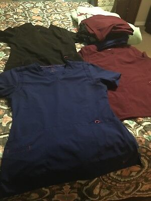 Nice SMITTEN SCRUB SETS! Royal BLUE, Maroon,& Black! PANTS SMALL TOP MED!!