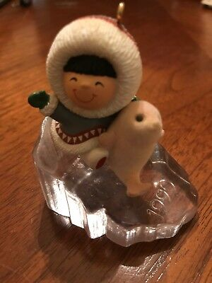 1990 Eskimo w/ Seal Christmas Hallmark Ornament