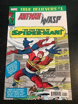 True Believers:Ant-Man And The Wasp-Trail Of Spiderman#1 (2018) 9.2