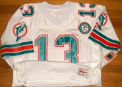 newest f7f9a a09b5 1990 DOLPHINS DAN Marino Authentic Game Jersey Size 48 Wilson Pro Line 25th  NWT