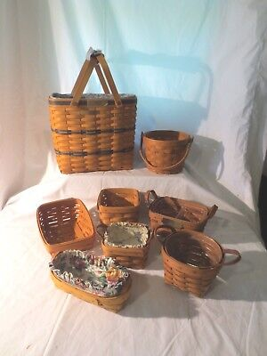 Longaberger Lot of 8 baskets