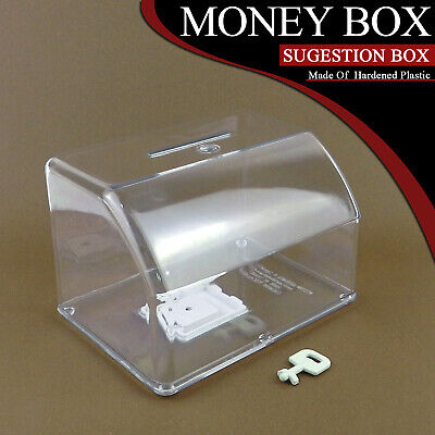 Charity Donation Coins Money Box Colorless Suggestion Box Coin Saving Save Bank