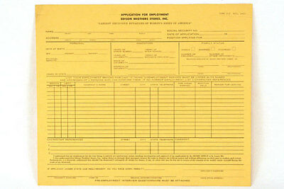 Blank Form 202 Employment Application - Edison Brothers Stores, Inc.