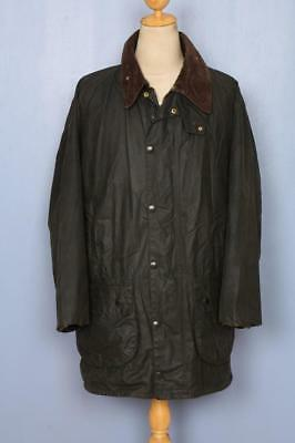 BARBOUR Gamefair Waxed Jacket Green Size 44 Large