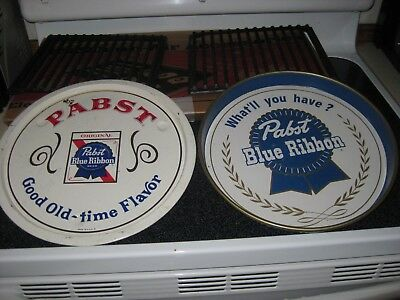 Vintage PABST BLUE RIBBON Beer TrayS LOT OF 2