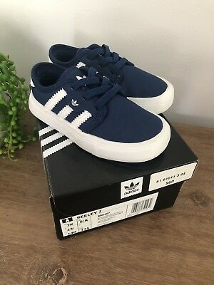 Blue Adidas Seeley Toddler / infant Shoes - size 7k - In Box
