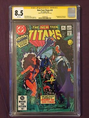 The New Teen Titans #23 -CGC Sig Series - Signed by George Perez (Sep 1982, DC)!