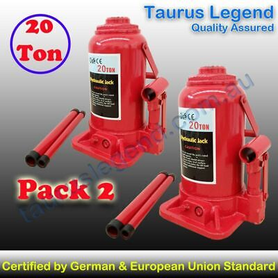 TWIN PACK 20 Ton Professional GS CE Hydraulic Bottle Jack Car Bus Truck SUV Lift