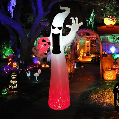 Dreamone 9 Foot Halloween Inflatable Flashing Flame Ghost Halloween Decorations