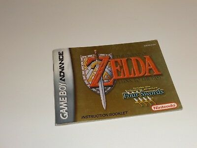 Gameboy Advance GBA Legend of Zelda: A Link to the Past Four Swords Manual Only