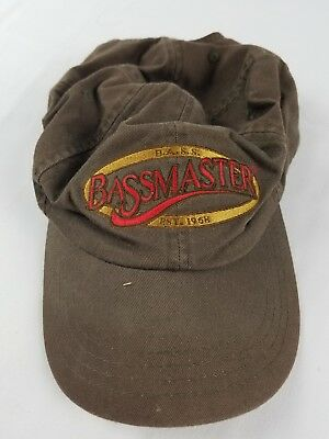 Bass Anglers Sportsman Society Bass Masters Cap Hat Adjustable Strap Back Vtg