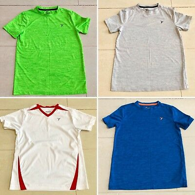 EUC Lot of 4 OLD NAVY Boys Athletic Shirts Size M (8-9) White, Grey, Green, Blue