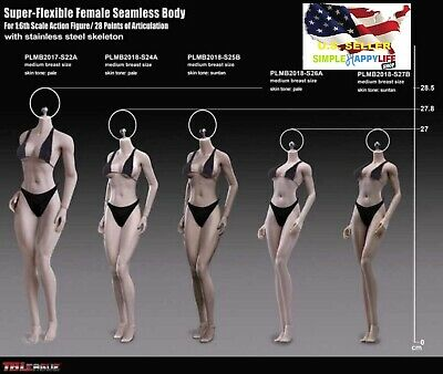 NEW TEEN GIRL TYPE PHICEN 1/6 Steel Skeleton ASIAN Female Seamless Body ❶USA❶