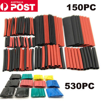 530Pcs Heat Shrink Tubing Tube Assortment Wire Cable Insulation Sleeving Set AU