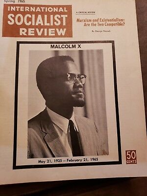 1965 Death Of MALCOLM X issue International Socialist Review