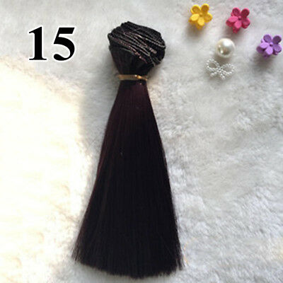 Synthetic hair Colors Wig for Doll Hairdressing Styling 100x15cm Useful 2018