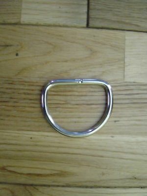 HEAVY DUTY 50mm WELDED MARINE STAINLESS STEEL D RING