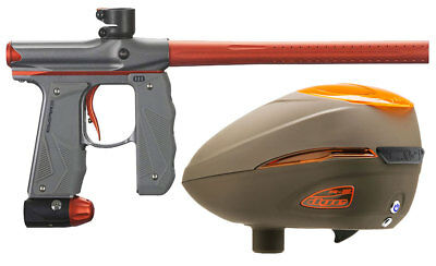 Paintball Markierer Empire Mini GS dust grey / orange + Dye R2 Rotor Loader Lava