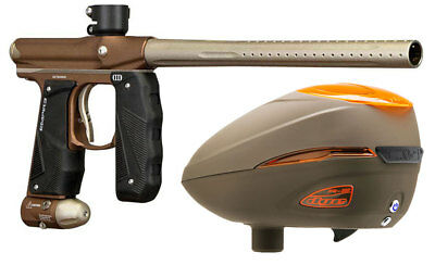 Paintball Markierer Empire Mini GS dust brown / dust bronze + Dye R2 Rotor Loade