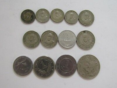 Lot of 9 Different Nicaragua Coins - 1964 to 2007 - Circulated