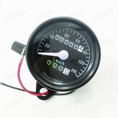 Universal Motorcycle Odometer Speedometer Gauge Dirt bike Cafe Racer Touring  YM