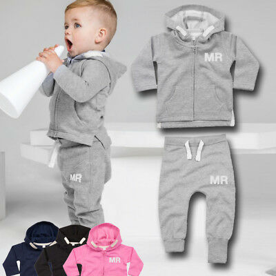 PERSONALISED FIRST TRACKSUIT ZIP HOODIE Kids Baby Boy Girl Toddler Initials Gift
