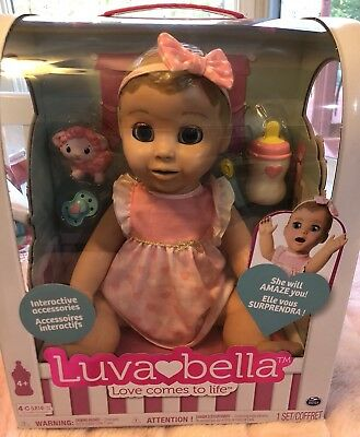 New Luvabella Blonde Baby Girl Interative Doll Brand New