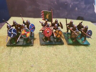 28mm Painted Dark Age Anglo Saxon Amoured Thegns With Command element  All...