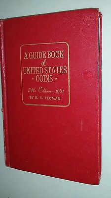 1981 Guide Book of United States coins hardcover Book  256 pages