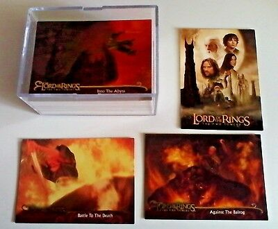 The Lord Of the Rings The Two Towers Full Card Set Topps (au Seller)