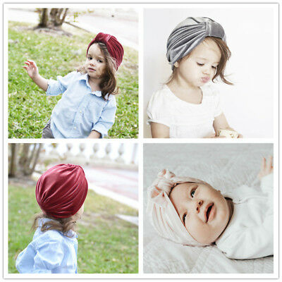 1 Pc Silk Head-wrap Super Cute Full Turban Cotton Soft Winter Hat For Baby Girls