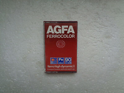 Vintage Audio Cassette AGFA Ferrocolor 90+6 From 1979 - Excellent Condition !
