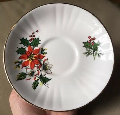 "Royal Grafton Fine Bone China ""Christmas"" Saucer, Discontinued, England"