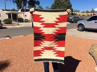 Very Nice Vintage / Old Navajo Weaving N R.