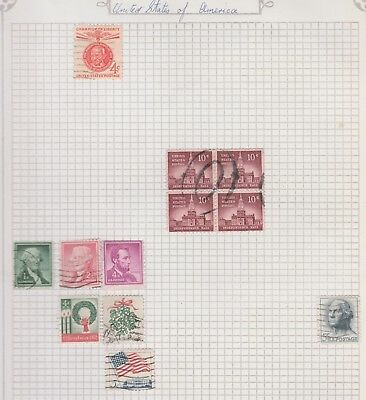 UNITED STATES Collection Christmas Block 4 Hall etc USED as per scan  #