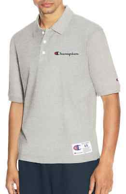 43ffd962a78f CHAMPION REVERSE WEAVE Polo All Over Graphic L Nwot Gray -  29.00 ...