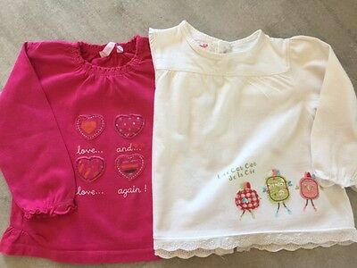 T-Shirts manches longues fille 18 mois