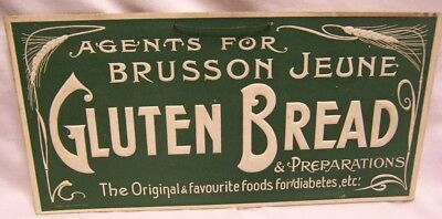 1890's Brusson Jeune Gluten Bread Art Nouveau Embossed Sign Made in France