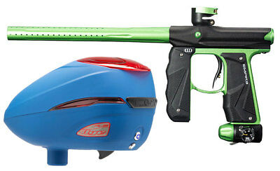 Paintball Markierer Empire Mini GS black / neon green + Dye R2 Rotor Loader Patr