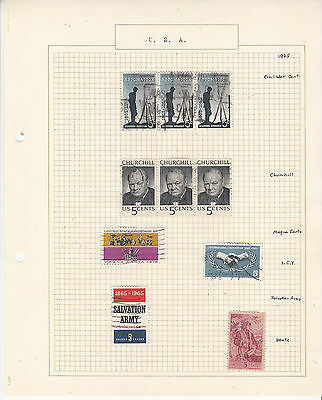 UNITED STATES Coll. On old Album Page to 1965 U...   Removed for Shipping...