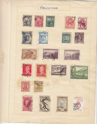 ARGENTINA on Album Page mostly Early Issues MNG/USED