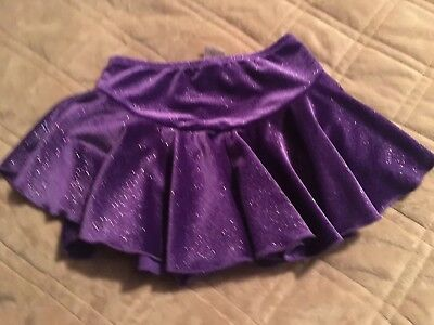 Chloe Noel Figure Skating Skate Skirt Purple With Sparkles, Sz CL