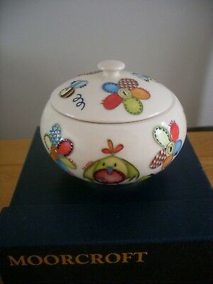 Moorcroft Lidded Box 'stitch In Time' Nursery Series Best Quality With Box