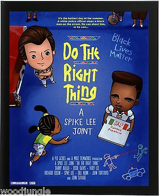 Do The Right Thing Spike Lee Movie Poster Signed  Artist Black Lives Matter  Art