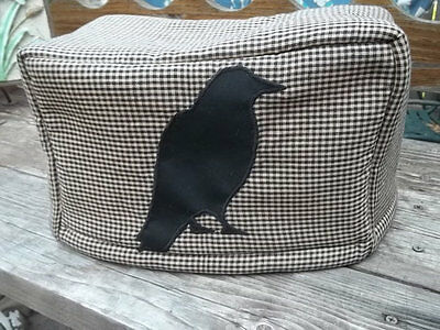 Toaster Cover Black Crow Primitive Rustic Fabric Quilted 4 Slice