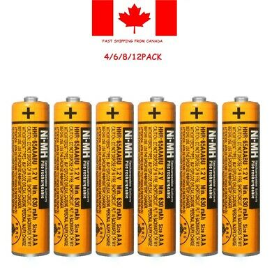 New Panasonic NI-MH AAA Rechargeable Battery HHR-65AAABU 630mAh 1.2V1-12PCS