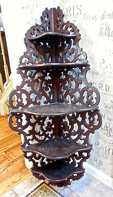 Beautiful Hanging Antique Hall Rack/etagere From Vermont Estate!