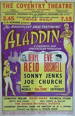 Bery Reid, Eve Boswell, Coventry Theatre Pantomime box office card