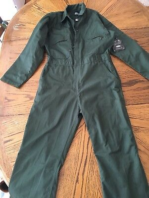 NEW NWT VTG Size Medium Regular Green Key mechanic Coveralls Jumpsuit