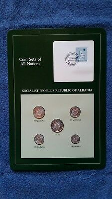 Coin Sets Of All Nations - Socialist People's Republic of Albania